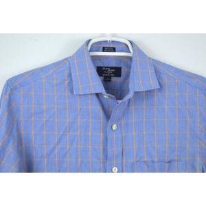 J CREW XS 13 13.5 80s 2 Ply Plaid Shirt Button Up